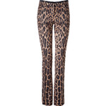 Roberto Cavalli Stretch Wool Leopard Print Pants