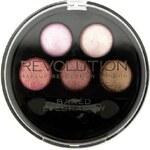 Makeup Revolution Kulatá paletka 5 zapečených očních stínů (5 Baked Eyeshadows) Pure and Innocent