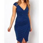 Damson Modré večerní šaty (XL/XXL)