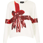 Topshop Knitted Sequin Present Jumper