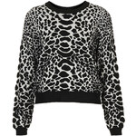 Topshop Knitted Animal Quilted Jumper