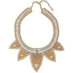 Topshop Leaf Bead Rhinestone Necklace