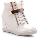 Perfect shoes Vysoké tenisky na klínu bílé Velikost: 40/26 cm