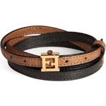 Fendi Leather Wrap-Around Bracelet
