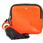 Anya Hindmarch Leather All Sorts Square Clutch in Orange