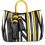Anya Hindmarch aneled Leather Crazy Maxi Belvedere Shopper Tote in Chalk
