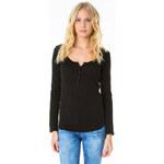 Tally Weijl Black Lace Back Short Sleeve Top