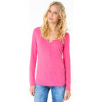 Tally Weijl Pink Lace Back Long Sleeve Top