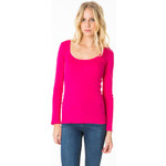 Tally Weijl Bright Pink Basic Long Sleeve Top