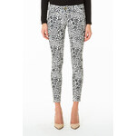 Tally Weijl Grey Leopard Print Ankle Grazer Pants