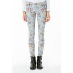 Tally Weijl Blue Floral Print Skinny Pants