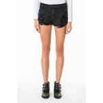 Tally Weijl Black Distressed & Sequin Denim Shorts