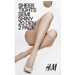 H&M 20 den 2-pack tights