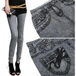 CREME Dámské elastické legíny Creme v džínovém stylu