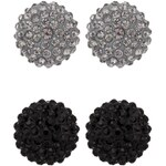 sweet deluxe KIMMY 2 PACK Ohrringe black/black diamond