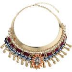 Topshop Orange Bead Flower Collar
