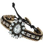 Topshop Cup Chain Rhinestone Bracelet