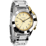 Topshop **Nixon Monarch Silver and Light Gold Watch