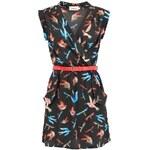 Černé šaty s ptačím vzorem Louche Zaza