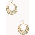 FOREVER21 Opulent Cutout Drop Earrings