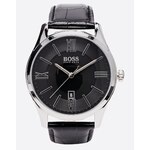 Hugo Boss Ambassador Black Leather Strap Watch 1513022 - Black