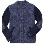 Gap Contrast Varsity Sweater Jacket - Marled blue