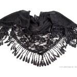 Stoklasa Šátek 55x160cm ANDREA s krajkou (1 ks) - Black + náušnice