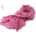 Stoklasa Šála 100x175cm mačkaná puntík (1 ks) - 1 Candy Pink