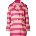 RED Valentino Striped Wool Coat