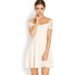 FOREVER21 Sweetheart Lace Off-The-Shoulder Dress