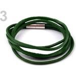 Stoklasa Kožený náramek dvojitý (1 ks) - 3 zelenomodrá