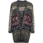 Topshop Patterned Slouchy Cardigan
