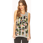 FOREVER21 Flower City Muscle Tee