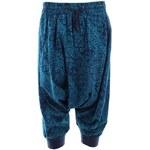 Dámské modře vzorované 3/4 turecké kalhoty Timeout