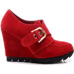 COLORFUL Semišové boty na klínu