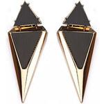 ZOVI Náušnice Modern Triangle zlaté Z199