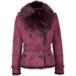 Burberry London Suede-Shearling Haddingcroft Jacket with Fur Trim