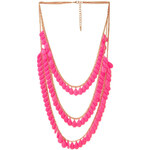 FOREVER21 Cascading Bead Layered Necklace
