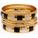 FOREVER21 Striped Bangle Set