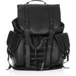 Topshop Grainy Faux Leather Pocket Backpack