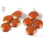 Stoklasa Náušnice kovové SÁRA 4 KRUHY ornamenty (1 pár) - 8 oranžová okrová