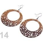 Náušnice kruhové s ornamenty Ø46mm (1 pár) - 14 hnědobéžová Stoklasa
