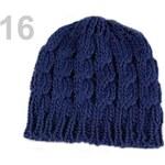 Stoklasa Pletená čepice s copánky (1 ks) - 16 Insignia Blue