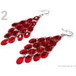 Stoklasa Náušnice s plastovými kamínky SANTAL (1 pár) - 2 červená jahoda