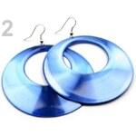 Náušnice plastové Ø65mm hladké (1 pár) - 2 modrá Stoklasa