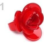Prsten plastový ROSE (1 ks) - 1 červená Stoklasa