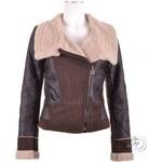 Jarní bunda s kožíškem PU leather TOPSHOP