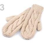 Rukavice dámské 9x26cm palčáky pletené (1 pár) - 3 Almond Oil Stoklasa