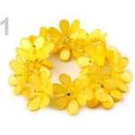 Náramek plastový s květy pružný (1 ks) - 1 žlutá narcisová Stoklasa