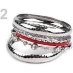 Stoklasa Sada náramků (1 sada) - 2 červená stříbrná
